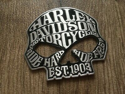 Harley Davidson Skull Metal 3D Sticker Decal Motorbike 65mm X 65mm • 3.99£
