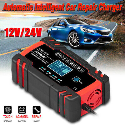 Intelligent 12V Motorcycle Motorbike Car Battery Charger Automatic Smart Trickle • 23.79£
