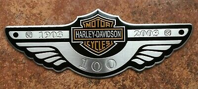 Harley Davidson Wing Metal 3D Sticker Decal Motorbike 120mm X 45mm • 3.99£