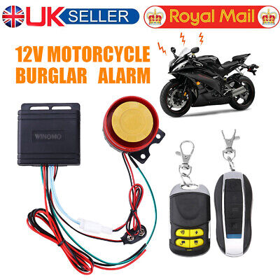 Anti-theft Motorcycle Motorbike Alarm Security Immobiliser Remote Control System • 10.21£