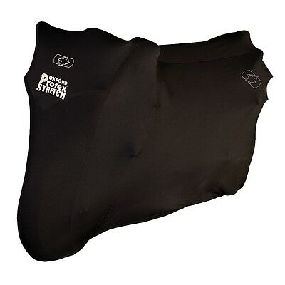 Oxford Protex Stretch Fit Indoor Motorcycle Motorbike Cover Black  X-Large  • 39.95£