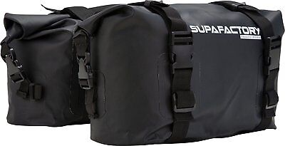 Supafactory 20L Impervius Waterproof Saddle Bags Set For Motorcycle & Motorbikes • 54.99£