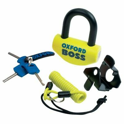 Oxford Boss Sra Approved 14mm Yellow Motorcycle Lock • 24.99£
