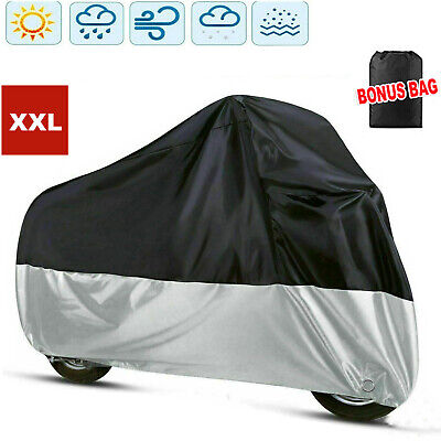XXL Waterproof Motorcycle Motor Bike Moped Scooter Rain Cover Outdoor Protective • 9.89£