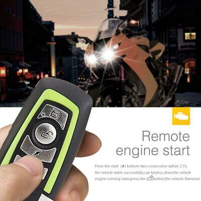 Anti-theft Motorcycle Motorbike Alarm Security Immobiliser Remote Control System • 11.39£