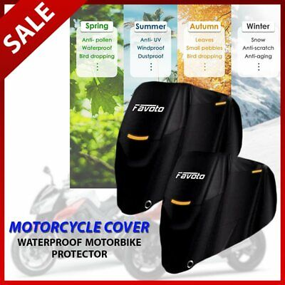 Motorcycle Cover Waterproof Motorbike Protector Heavy Duty Outdoor Protection • 19.99£