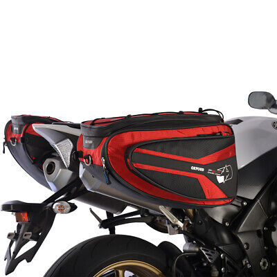 OXFORD P50R Panniers Lifetime Motorcycle Luggage + Carry Strap 50L Storage RED • 127£