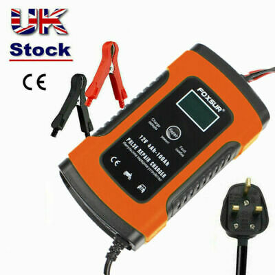 Intelligent 12V Motorcycle Motorbike Car Battery Charger Automatic Smart Trickle • 14.59£