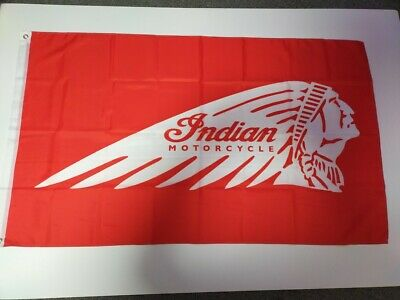 Indian Motorcycle Flag 3' X 5' - Perfect For Garage, Man Cave, Shed, Work Shop • 12.95£