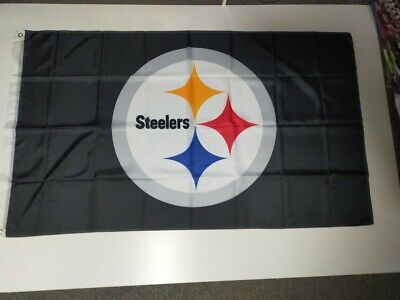 Pittsburgh Steelers NFL Flag 3' X 5' - Perfect For Garage, Man Cave, Shed • 9.99£