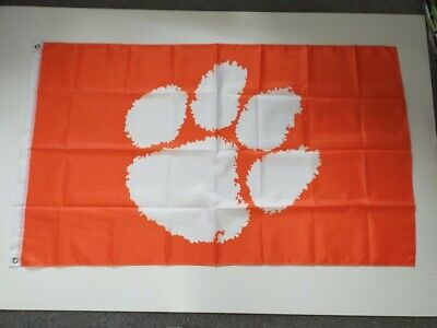 Clemson Tigers NCAA Flag 3' X 5' - Perfect For Garage, Man Cave, Shed, Bedroom • 9.99£