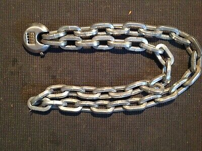 Mororcycle Lock And 9mm Hardened Chain. 61 Inches Long. • 20£