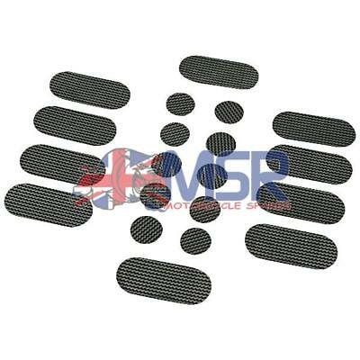Motorcycle Protective Stickers Set Carbon Look 20 Piece • 6.59£