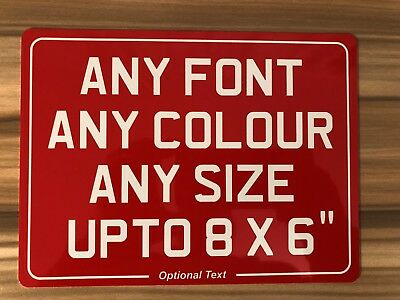 Aluminium Motorcycle Show Plate Plaque Any Font Size Colour NOT Number Plate • 7.99£