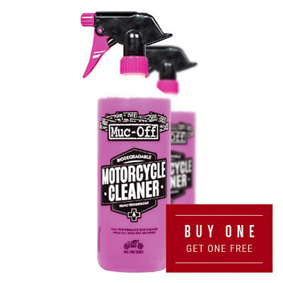 Muc-Off Motorcycle Motorbike Cleaner 1 Litre Buy One Get One Free • 10£