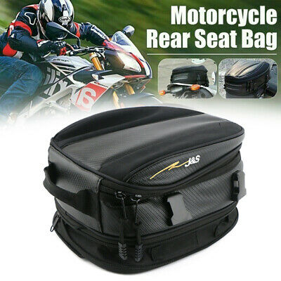 Motorcycle Rear Tail Bags Sport Back Seat Bag Scooter Helmet Pack Waterproof • 16.79£