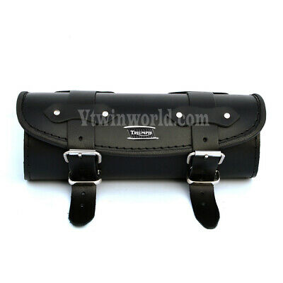 Triumph Black Leather Tool Roll Bag Rocket Thunderbird Speedmaster Daytona Thrux • 37.95£