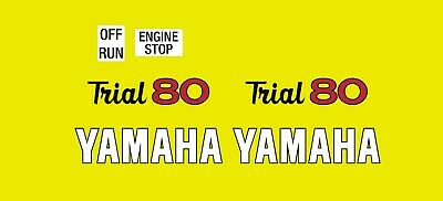 Yamaha TY80 Graphics Stickers Decals Transfers TY 80 Trial Trials YELLOW & WHITE • 12£