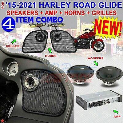 Harley Road Glide Diamond Audio Pro Speaker Kit With Mspro65 + Mo75t Horns • 1,030.35£