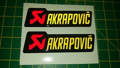 Domed Reflective AKRAPOVIC Sticker Decal For Motorbike - Race*Gel Red/yellow • 3.99£