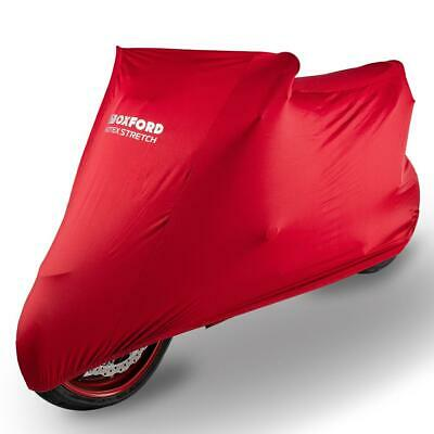 Oxford Protex Premium Red Indoor Stretch Motorcycle Dust Cover XL • 38.99£