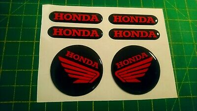 Domed Honda Bike Stickers Decal  Red / Forks / Tank • 5.99£