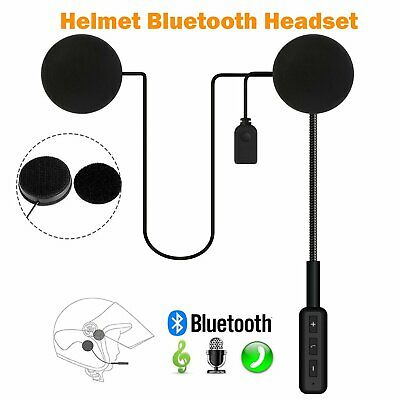 Wireless Bluetooth Motorcycle Helmet Headset Speaker Motorbike Headphones Mic UK • 9.59£