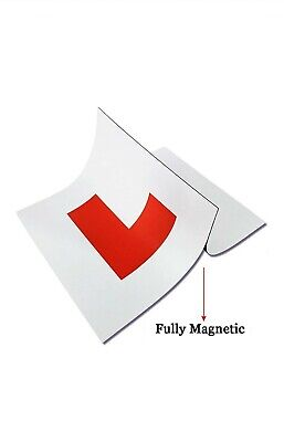 2x L Plate Fully Magnetic Learner Plate Car/bik Easy To Put On Or Off  • 3.49£