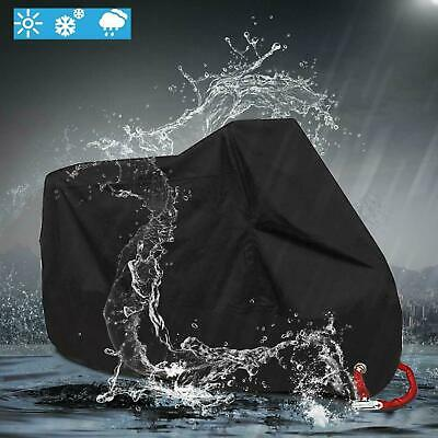 XL Heavy Duty Waterproof Motorcycle Rain Cover Motorbike Breathable Vented Black • 14.23£
