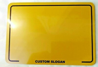 7x5 Reflective Blank Novelty Motorcycle Motorbike Show Number Plate +FREE GIFT • 9.95£