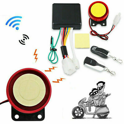 Motorcycle Scooter Anti-theft Security Alarm System Remote Control Engine Start/ • 22.42£