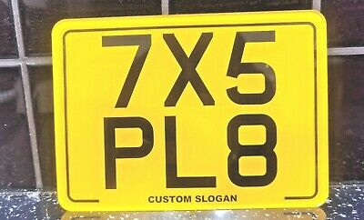7 X 5  Blank Plate Kids Motorbike Motor Cycle Novelty Plate Number Plate + Gift • 9.95£