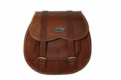 1X Motorcycle Side Pouch Brown Leather Side Pouch Saddlebags Saddle Panniers (1 • 40.99£