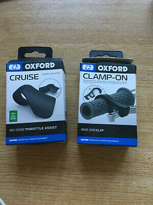 Oxford Motorcycle Cruise Throttle Oxford Clamp On Brake Lever Clip OX608 & OX622 • 14£