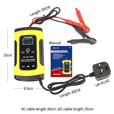 Intelligent 12V Motorcycle Motorbike Car LCD Battery Charger Smart Trickle UK#~ • 15.59£