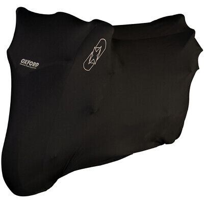Oxford Protex Stretch Indoor Motorcycle Dust Cover - Black Medium • 27.98£