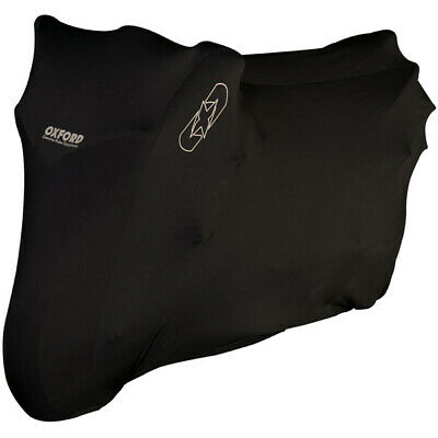 Oxford Protex Stretch Indoor Motorcycle Dust Cover - Black Large • 34.48£