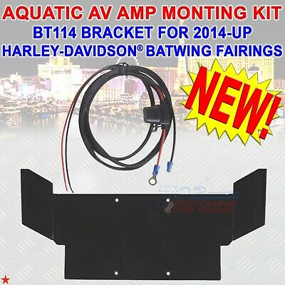 Aquatic Av Amp Mounting Kit For 2014 -up Harley-davidson® Batwing With Wire Kit • 97.68£