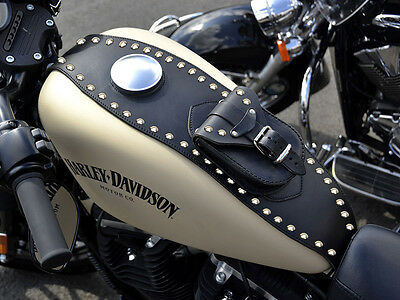 R) HARLEY DAVIDSON SPORTSTER LX 883 & 1200 IRON LEATHER TANK Cover Panel Pad Bib • 69.95£
