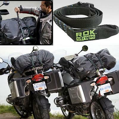 Rok Straps Motorcycle ATV Quads Adjustable Luggage Bungee 18 - 60  Twin Pack • 13.48£
