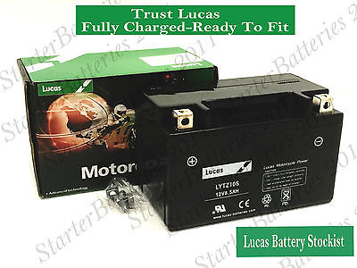 LUCAS YTZ10S Motorcycle Battery Fully Charged Ready To Fit  High Power Quality • 31.99£