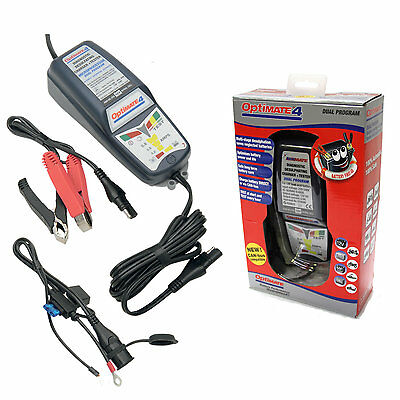 Optimate 4 DUAL Motorcycle 12V Battery Charger Optimiser SAE Latest Version • 59.95£