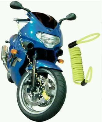 Xtrm Disc Lock Reminder Disk Cable Motorcycle Motorbike Scooter Bike Use Yellow • 2.49£