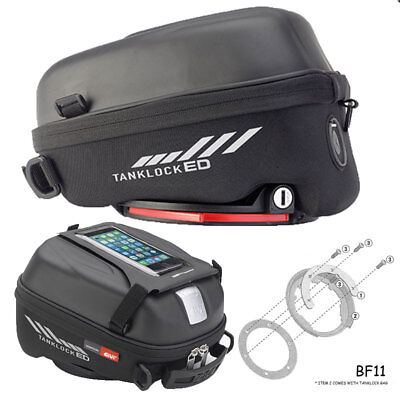 Givi ST605 Lockable Tanklock Tank Bag + Ducati Multistrada 1200 (10-18) Kit BF11 • 112.50£
