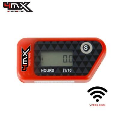 4MX Red Wireless Motorcycle Engine Vibration Hour Meter To Fit Honda CR125 • 29.45£