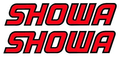 SHOWA Fork Decal Stickers PAIR MX Trials Road Race Sports Bike Honda Ducati  • 1.99£