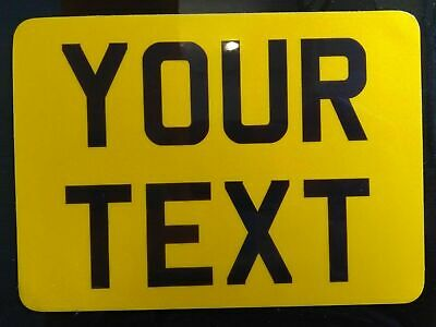 8x6 Yellow Kids Text Age Motorcycle NOT Number Plate Bike Metal Aluminium • 8.98£