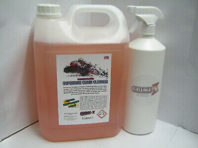 Superbike Motorcycle Heavy Duty Chain Cleaner Concentrate 5 L Degreaser + Spray • 16.99£
