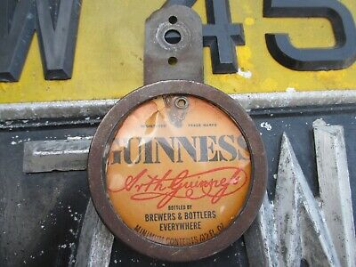 Tax Disc Holder 1950 -1960 Old Guinness  Mat Disc For Motorcycle - Lens Cover • 14.95£