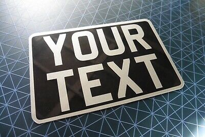 8x6 Classic Kids Text Age Motorcycle NOT Number Plate Bike Metal Aluminium • 7.98£